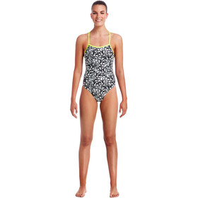 Funkita Tie Me Tight One Piece Swimsuit Ladies Bleached Coral